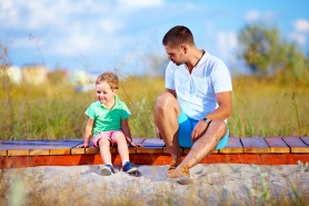misunderstandings between father and son, summer outdoors