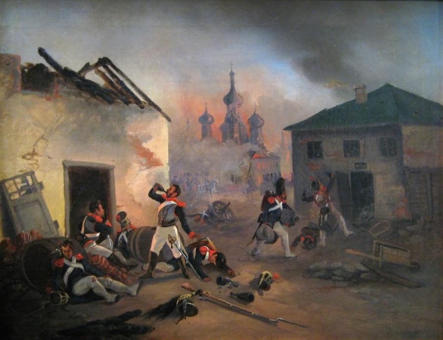 _Moscow_fire_(1812)_French_soldiers_drunking