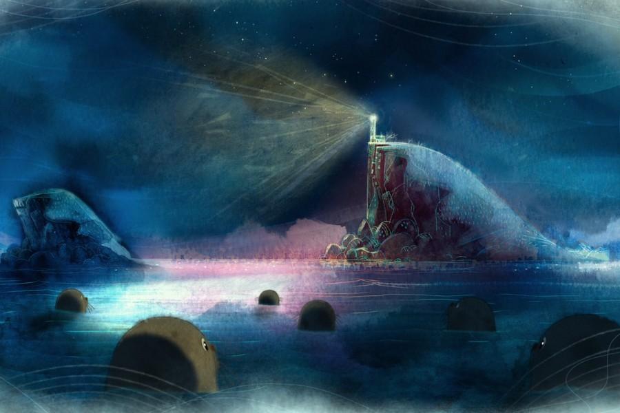 Кадр изанимационного фильма «Песня моря» (Гран-при9-го фестиваля экологического кино Green Me)