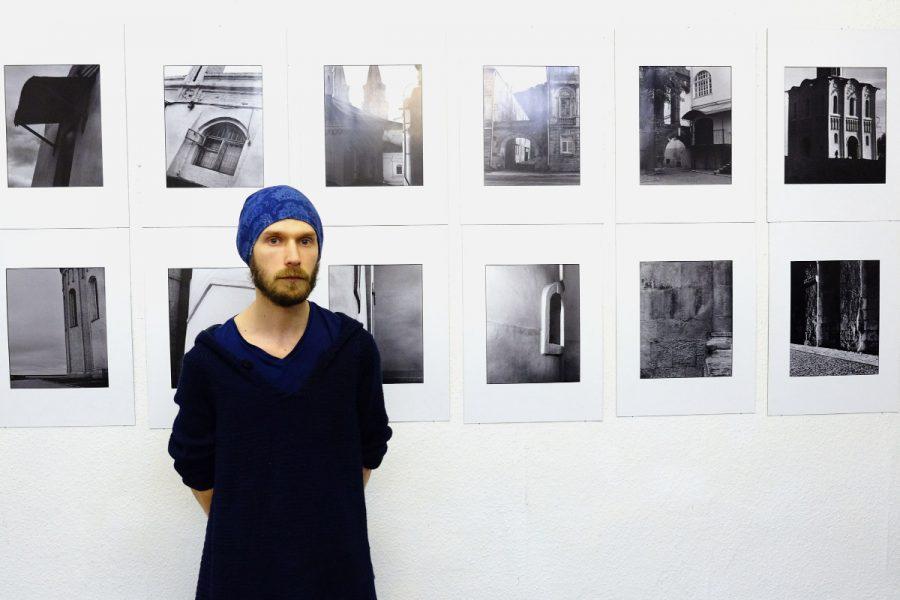 Дмитрий Булкин наоткрытии своей выставки вБерлине. Фото: Денис Коновалов