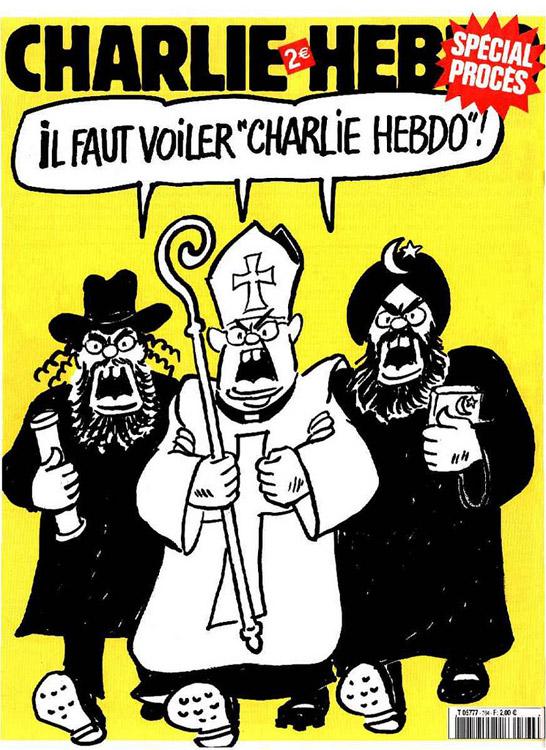 Изображение: обложка журнала Charlie Hebdo.