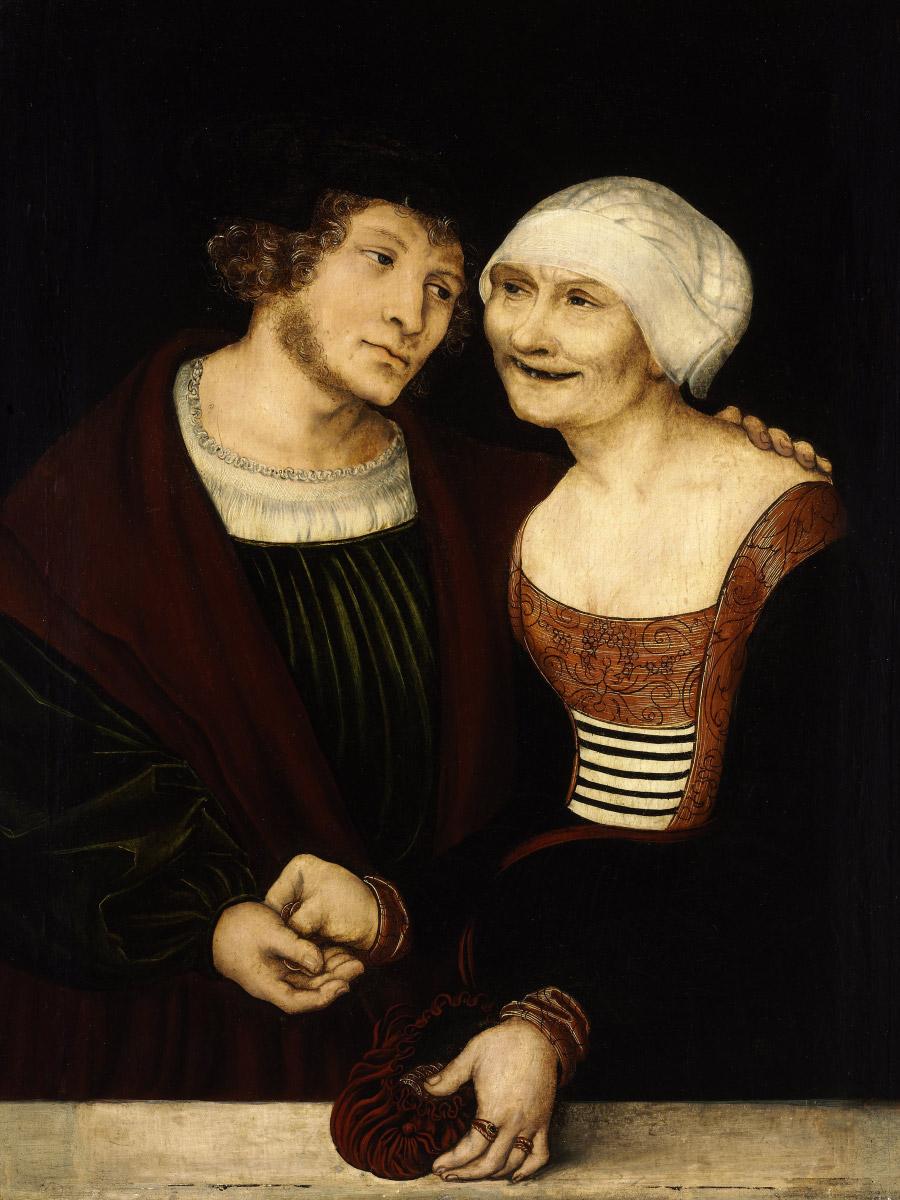 Лукас Кранах Старший. «Влюбленная старуха июноша», 1522г. Изображение: Википедия