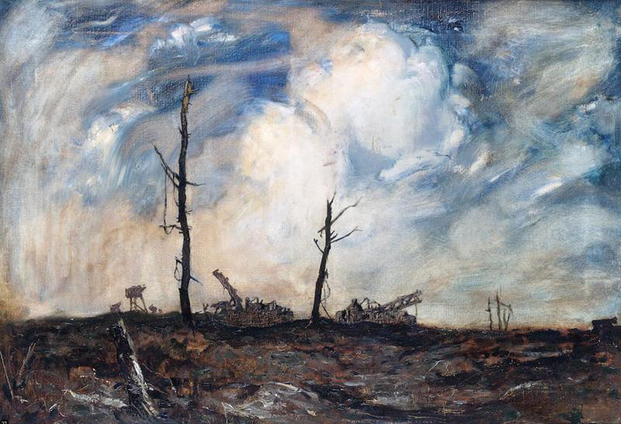 Руины между Бернафей Вуд и Марикуром. Адриан Хилл, 1918. Изображение: Википедия