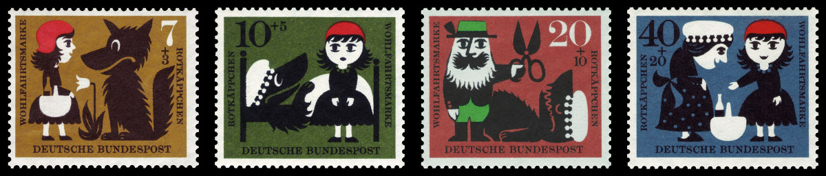 Немецкие почтовые марки. 1960 год. Изображение: Википедия