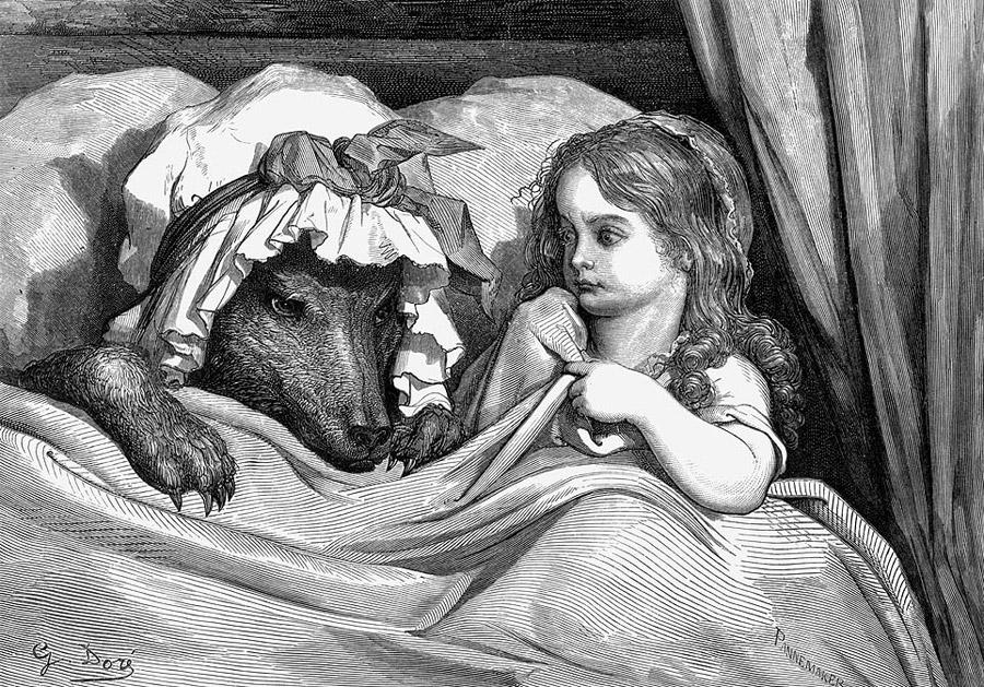 Иллюстрация Гюстава Доре к книге Шарля Перро «Красная Шапочка». Источник: Википедия