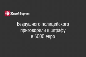 Бездушного полицейского приговорили к штрафу                                   в 6000 евро