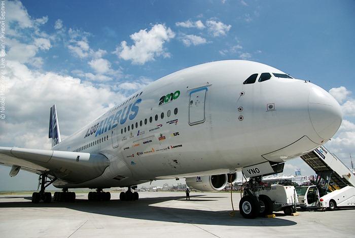 Airbus A380 на авиа-шоу ILA 2010